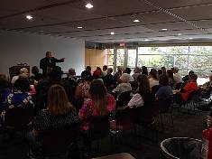 Chicago Psychic, Medium and Paranormal author Edward Shanahan talking at an event.